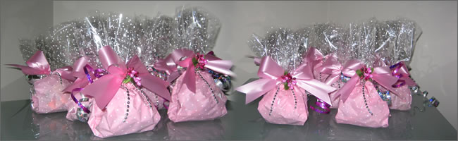 Baby pink balloon weights