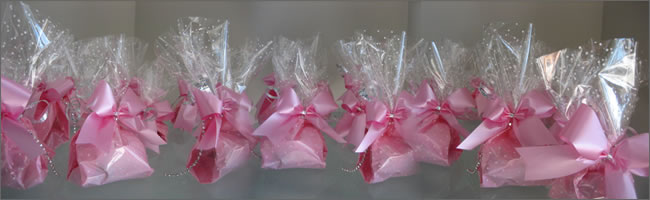 Pink balloon weights for 21st birthday party!